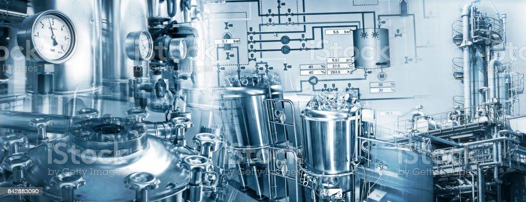 Chemieindustrie und Pharmazeutische Industrie stock photo