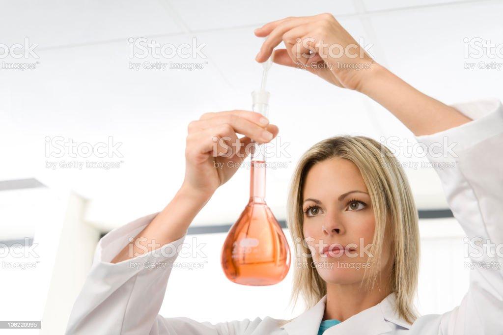 Chemist At Work royalty-free stock photo
