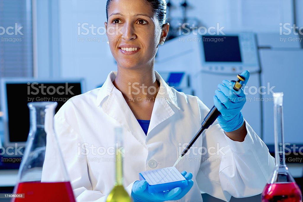 Chemist student royalty-free stock photo