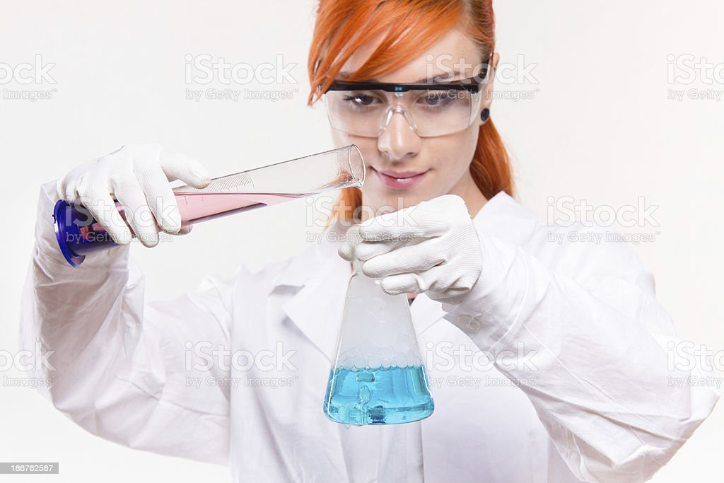 Chemistry experiment royalty-free stock photo