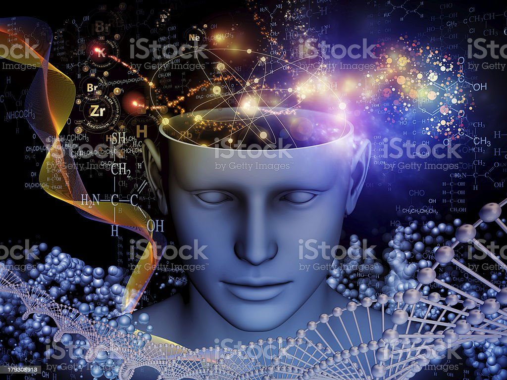 Chemistry of the Mind stock photo