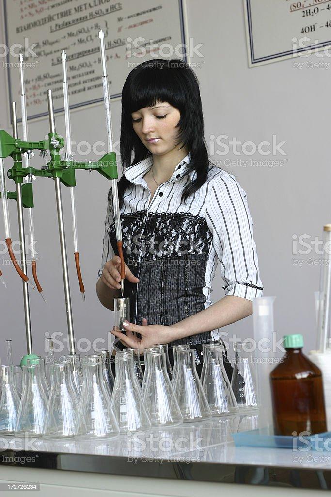 Chemistry student royalty-free stock photo