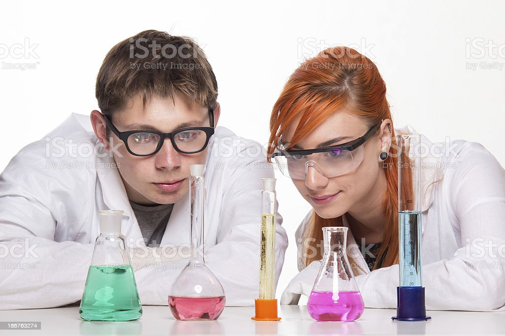 Chemistry Students royalty-free stock photo