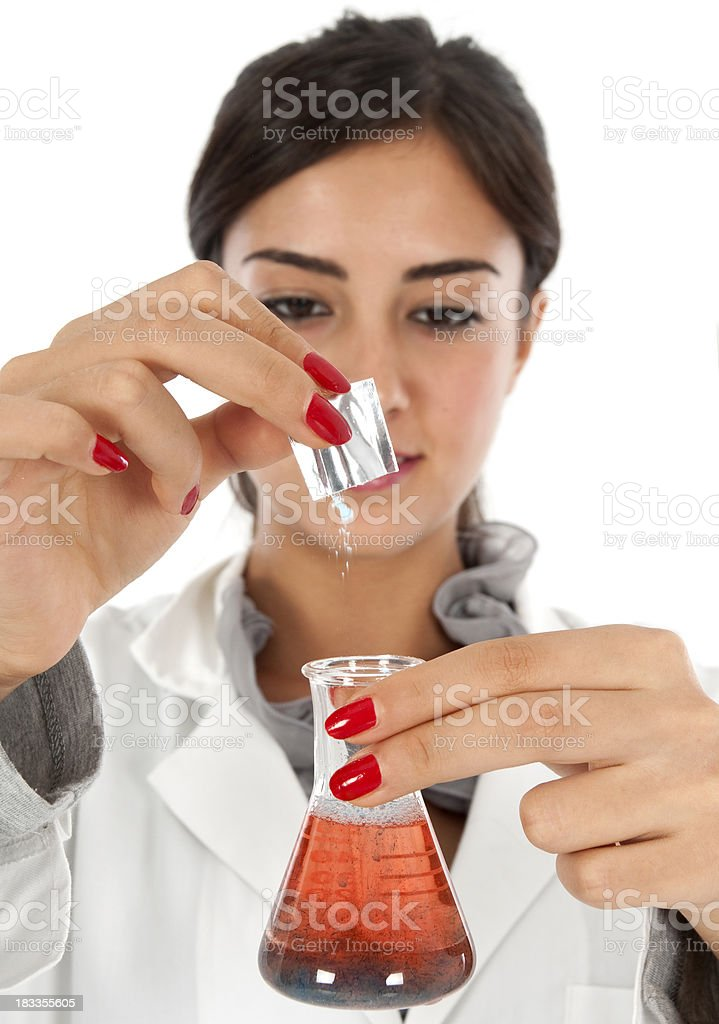 chemists working royalty-free stock photo