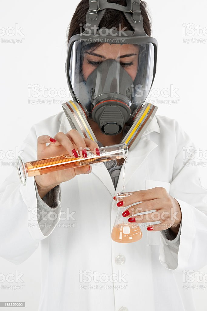 chemists working royalty-free stock photo
