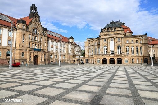 Chemnitz Art Gallery and Opera House building (Opernhaus). City in Germany (State of Saxony).
