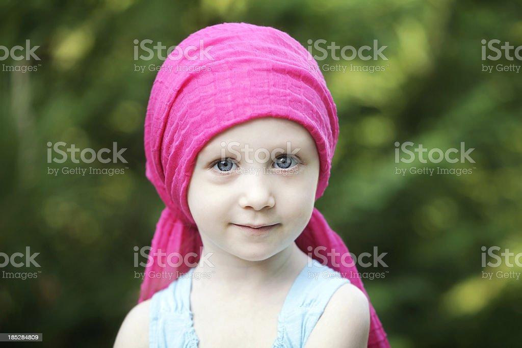 Chemo Child stock photo