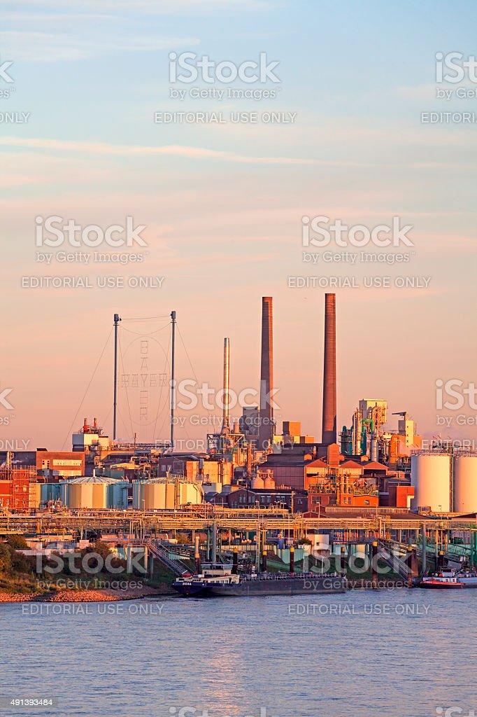 Chempark Leverkusen stock photo