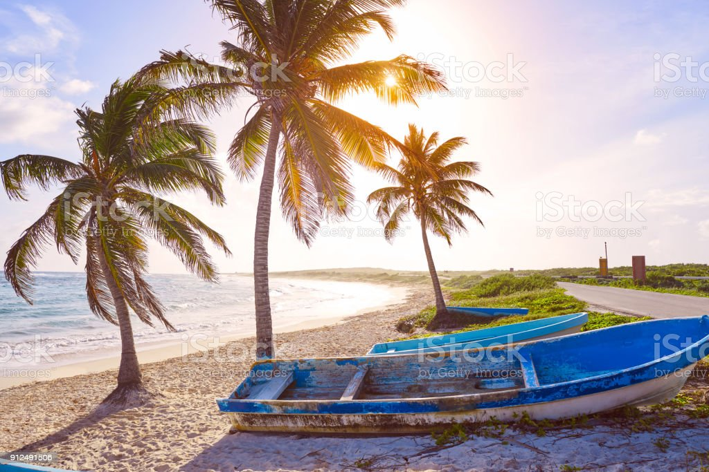 Chen Rio beach Cozumel island in Mexico stock photo