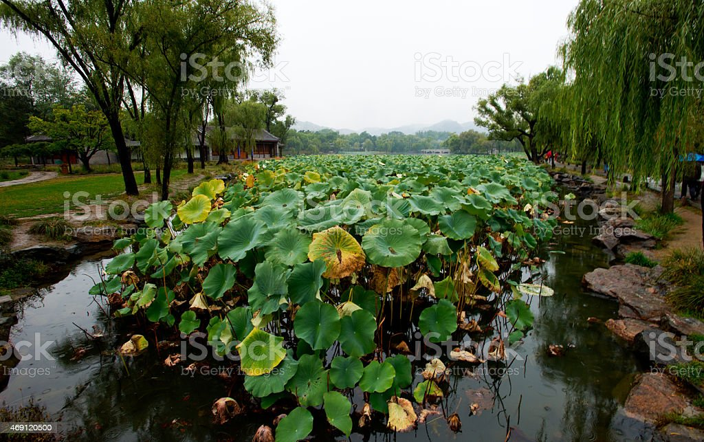 Chengde,  Beautiful autumn scenery in China. stock photo