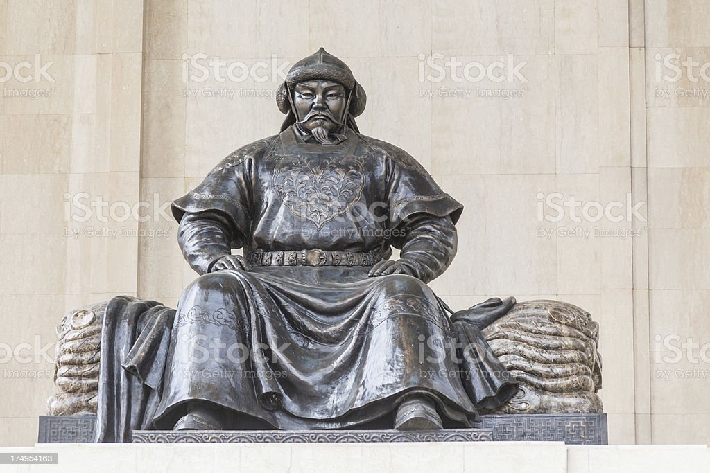 Chengghis Khaan monument in Ulaanbatar Mongolia stock photo