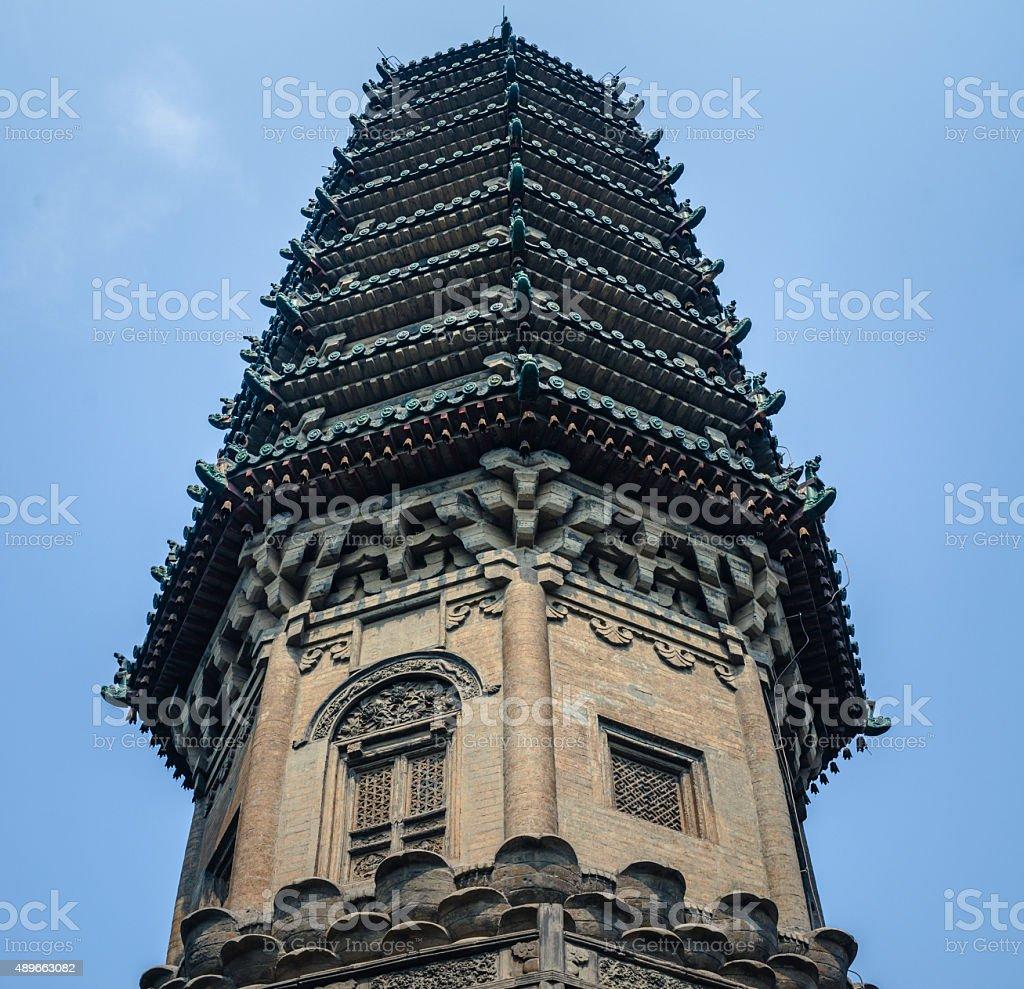 Chengling Pagode der Linji Tempel, der Zhengding county – Foto