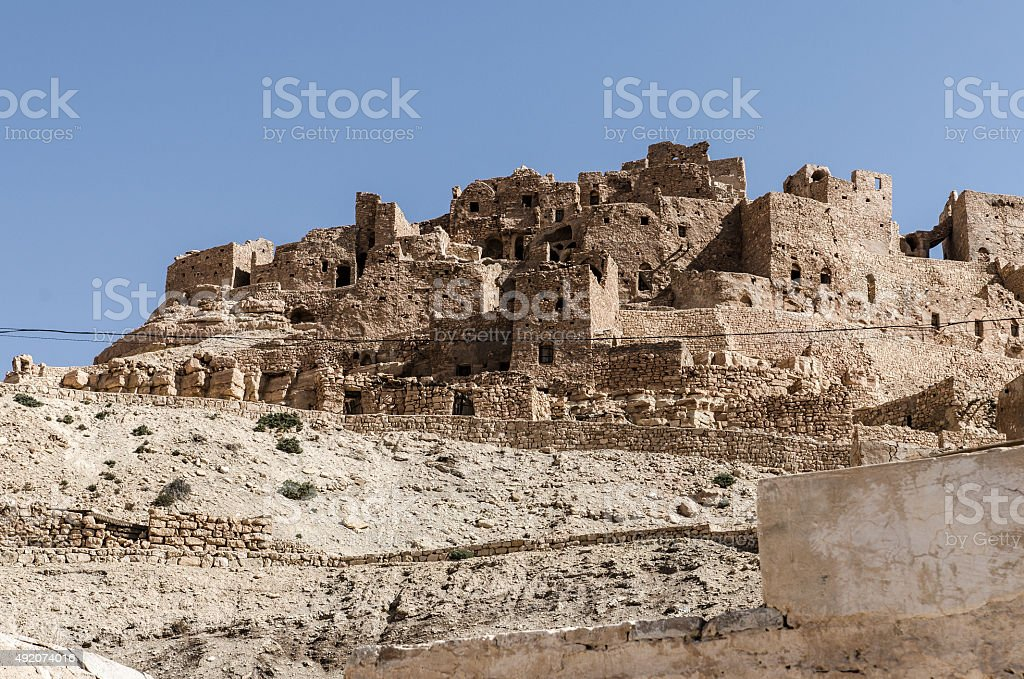 Chenini, berber village stock photo