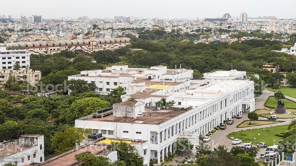 Chennai Aerial View stock photo