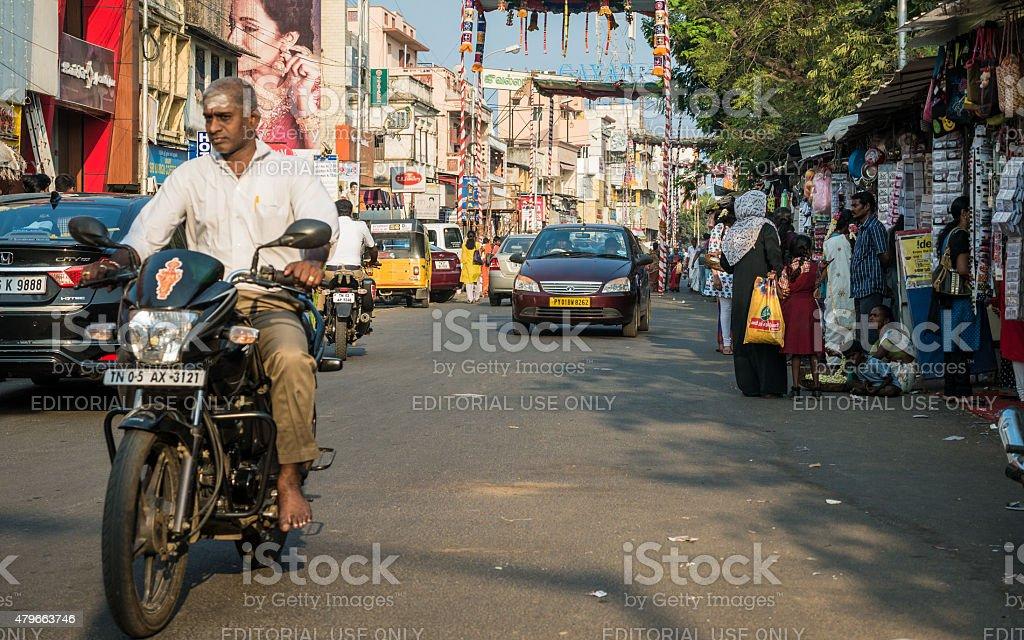 Chennai, India street scene stock photo