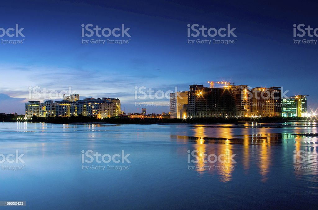 Chennai Nightscape stock photo