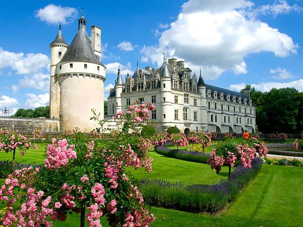 Chenonceau Castle stock photo