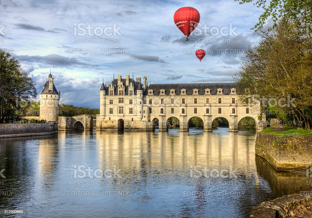 Chenonceau Castle stock photo