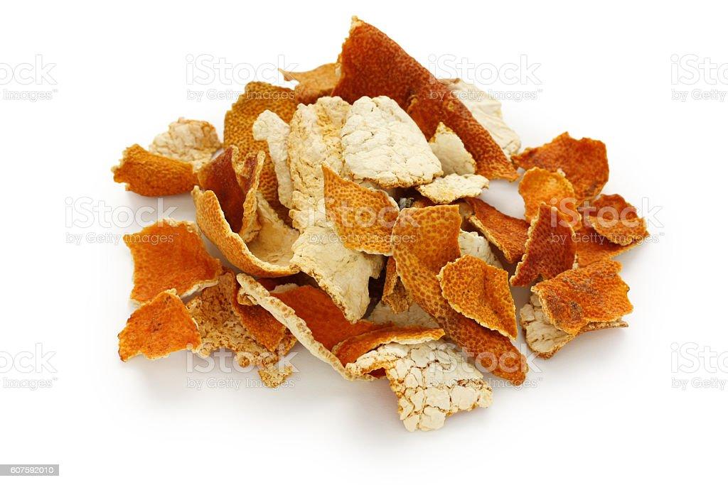 chenpi,dried tangerine peel,traditional chinese herbal medicine - Zbiór zdjęć royalty-free (Ajurweda)