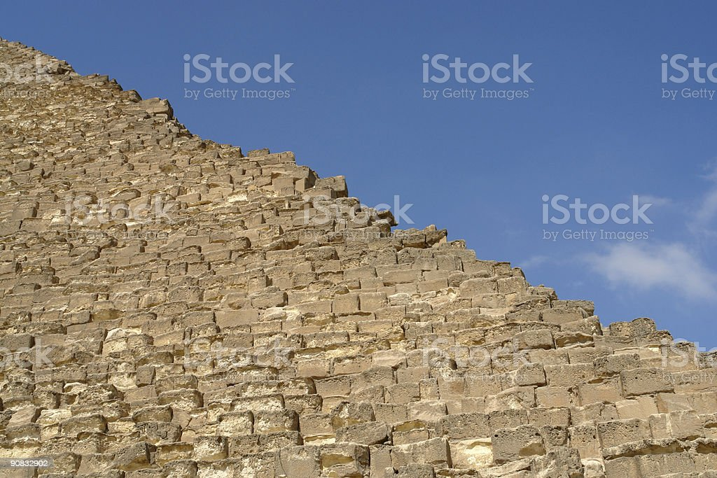Cheops Pyramid Detail royalty-free stock photo