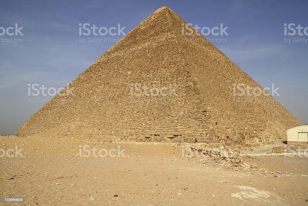 Cheops pyramid in Giza royalty-free stock photo