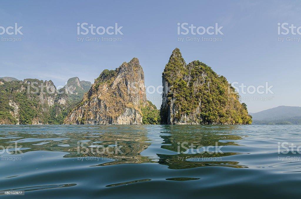Cheow Lan Dam stock photo