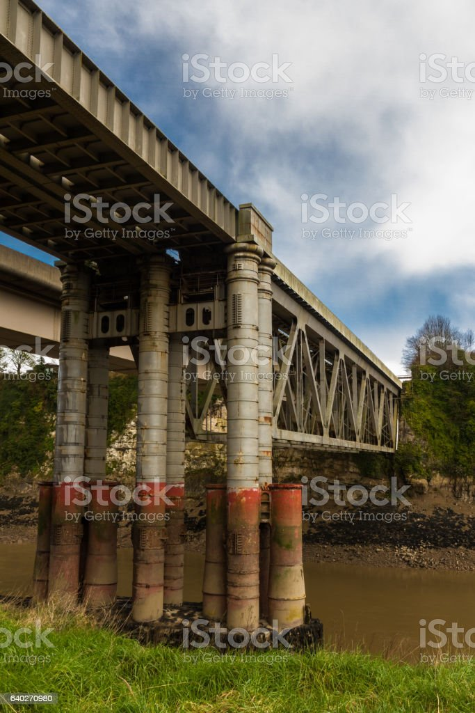 Chepstow Railway Bridge stock photo