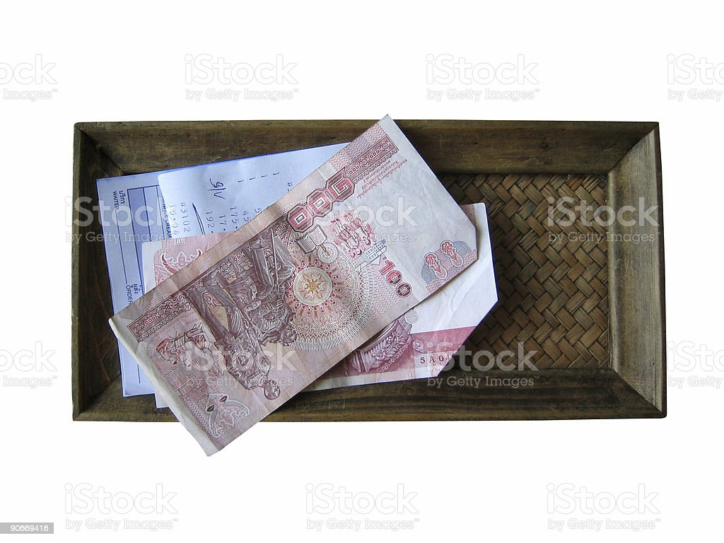 cheque please royalty-free stock photo