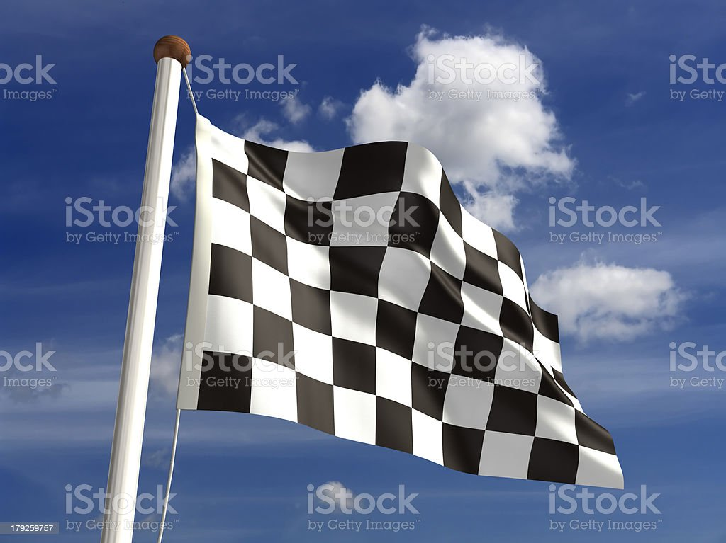 Chequered Flag (with clipping path) royalty-free stock photo