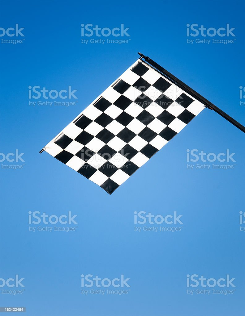 Chequered Flag royalty-free stock photo