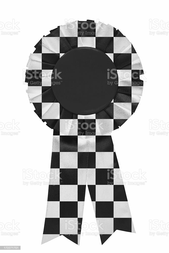 Chequered ribbon royalty-free stock photo