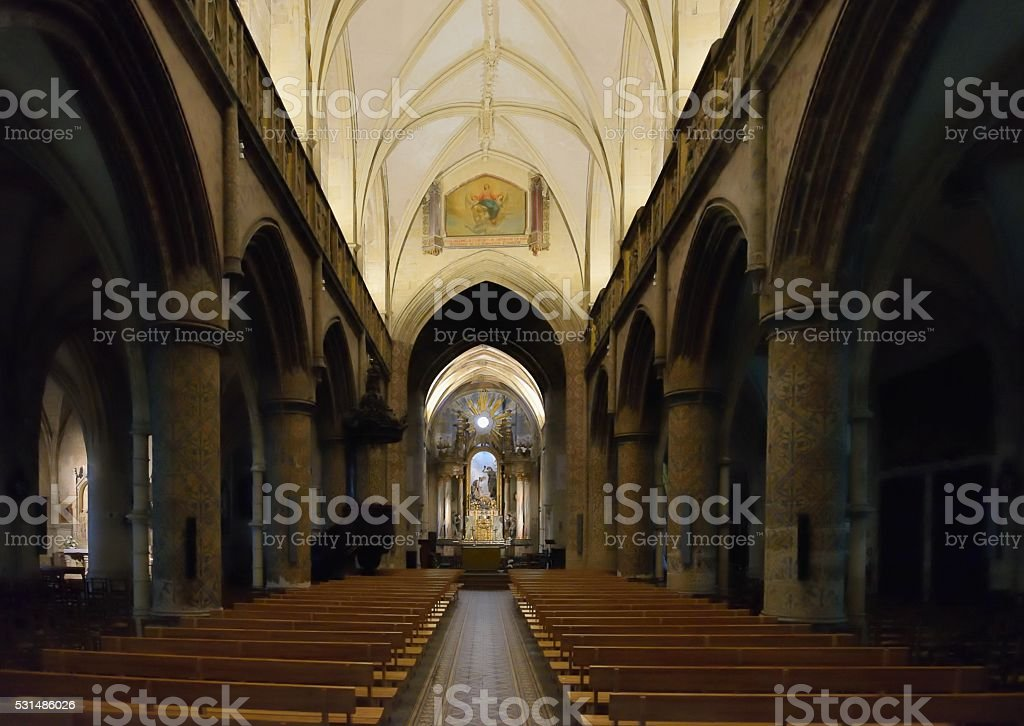 Cherbourg Basilica of the Holy Trinity stock photo