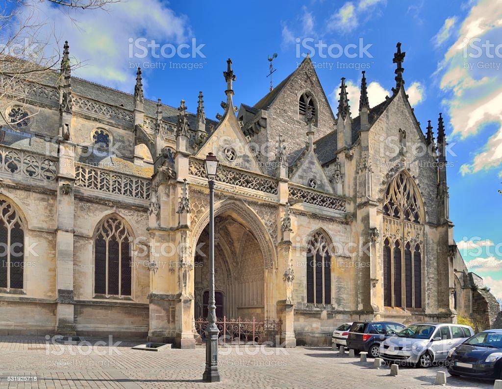 Cherbourg  Holy Trinity Basilica stock photo
