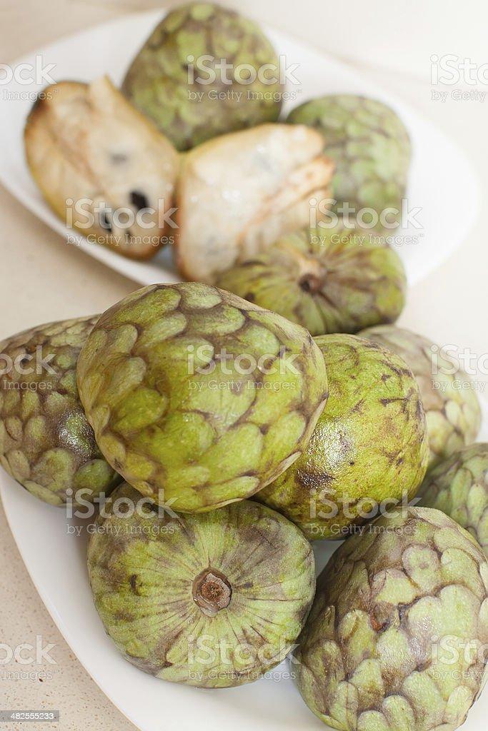 cherimoya stock photo