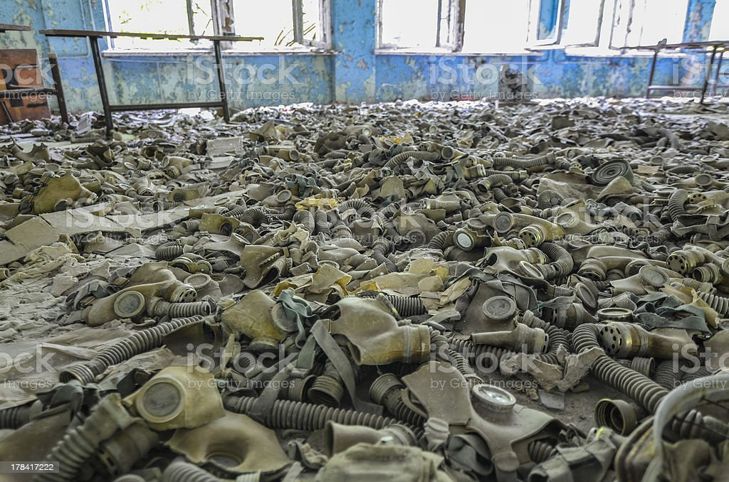 chernobyl after the disaster stock photo