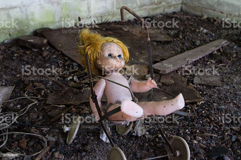 UKRAINE. Chernobyl Exclusion Zone. - 2016.03.19. Old abandoned stock photo