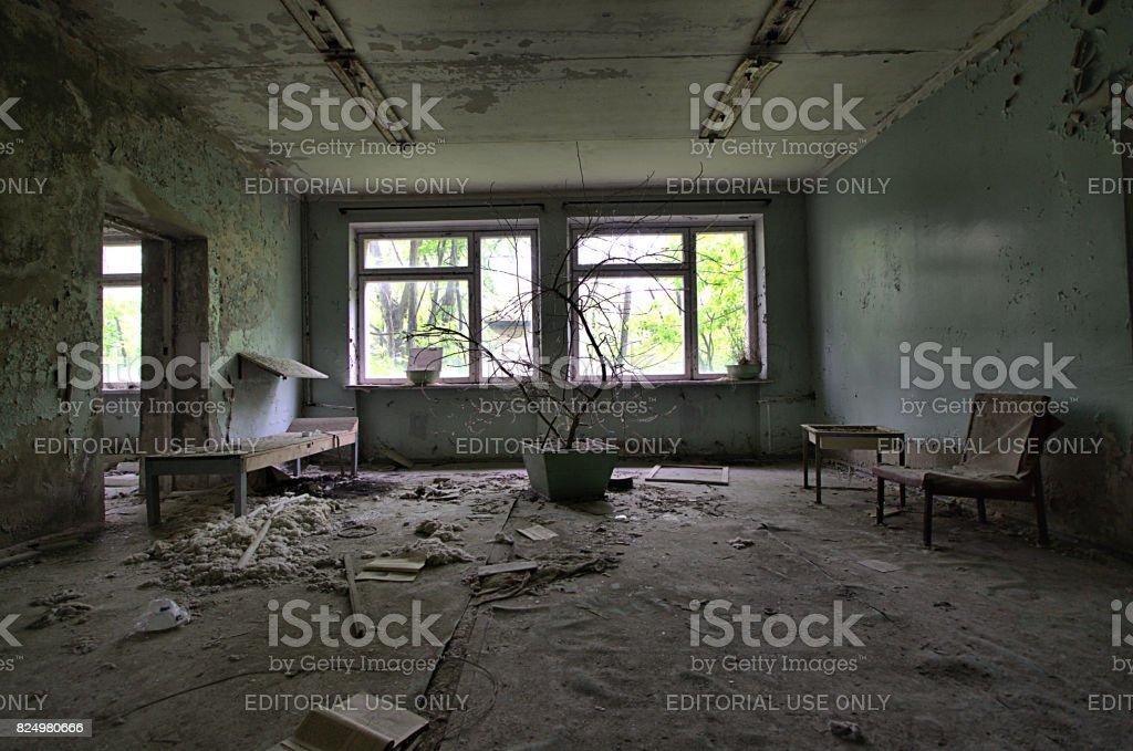 Chernobyl - Hospital Room stock photo