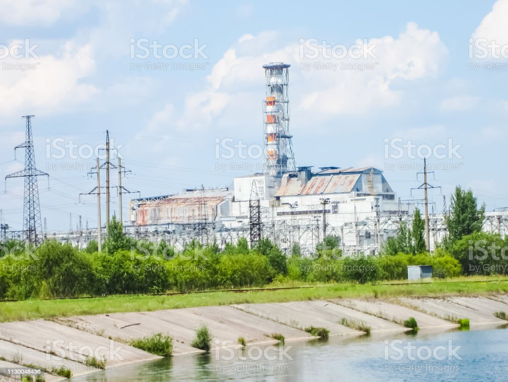 Chernobyl Nuclear Power Plant View From A Distance On