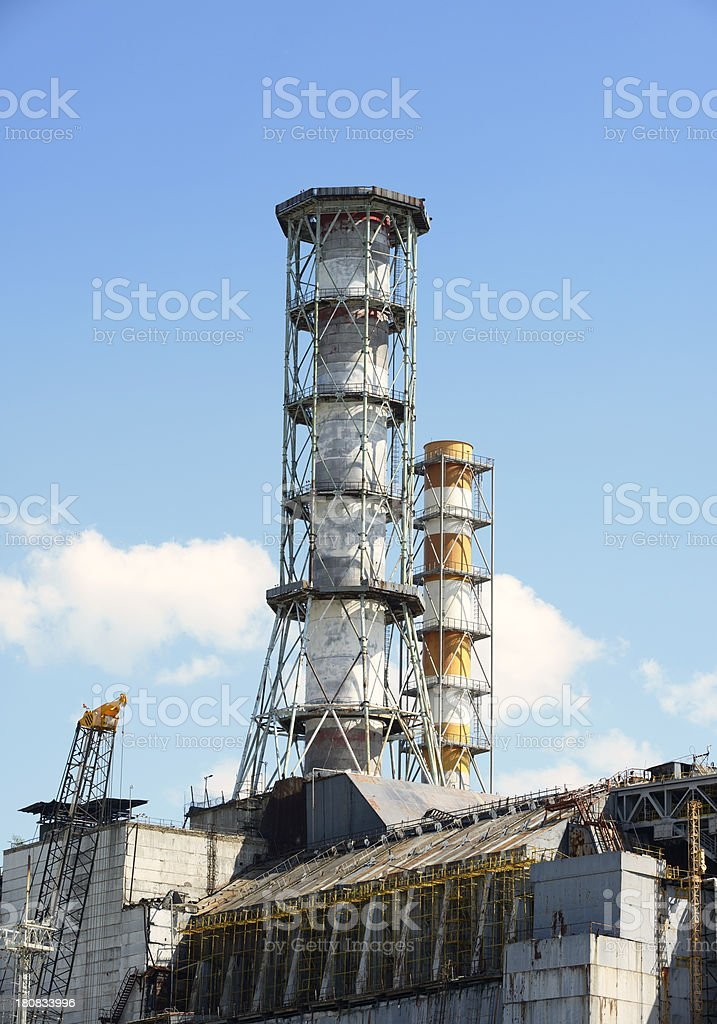 Chernobyl Nuclear Power Station (Reactor 4) royalty-free stock photo