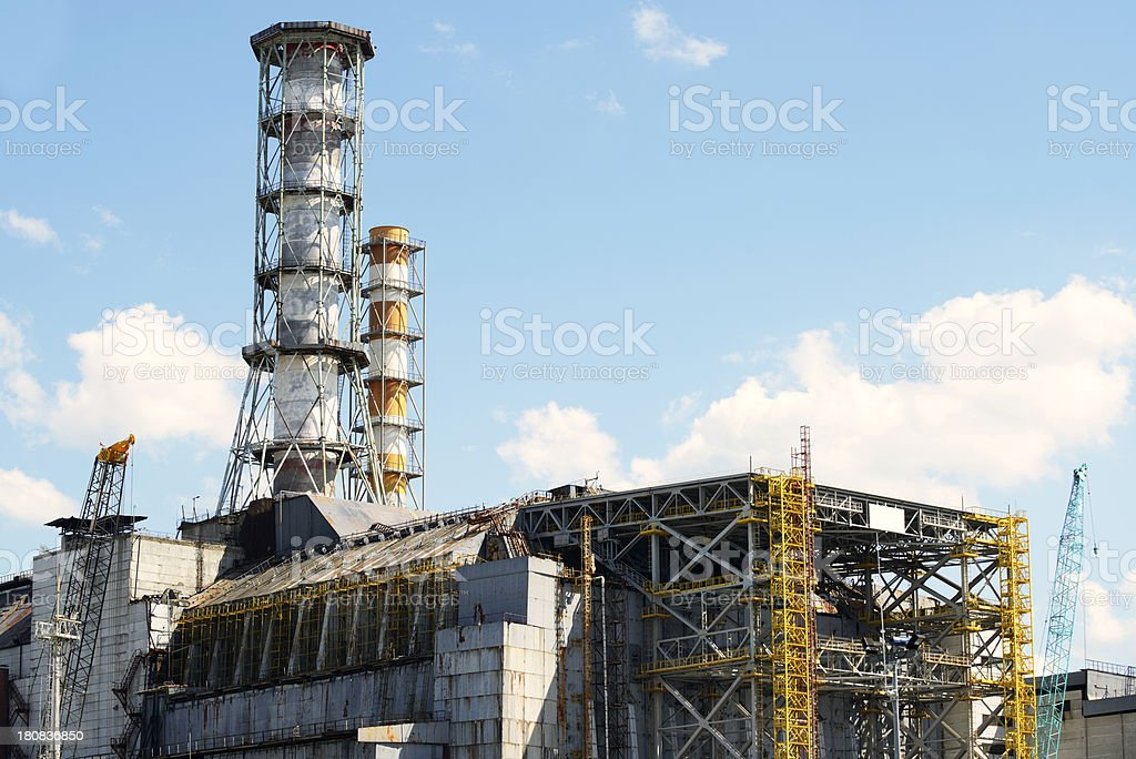 Chernobyl Nuclear Power Station (Reactor 4) stock photo