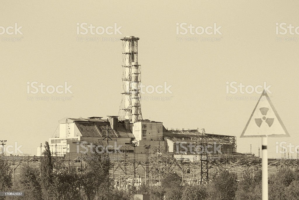 Chernobyl Nuclear reactor 4 stock photo