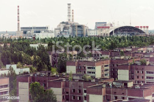 istock Chernobyl nuclear reactor and Pripyat ghost town 170642046