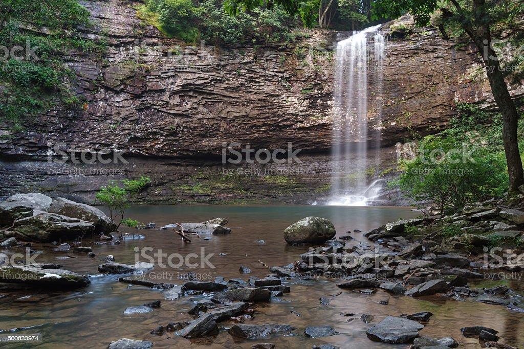 Cherokee Falls at Cloudland Canyon State Park in Georgia stock photo