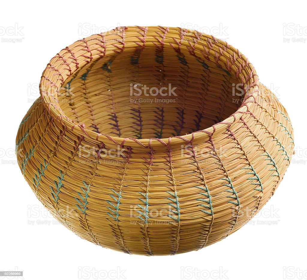 Cherokee handwoven basket royalty-free stock photo