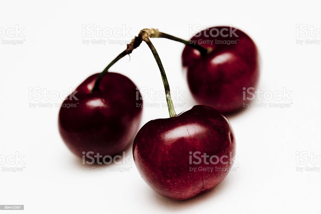 Cherries - isolated royalty-free stock photo