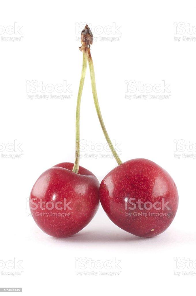 Cherries on white royalty-free stock photo