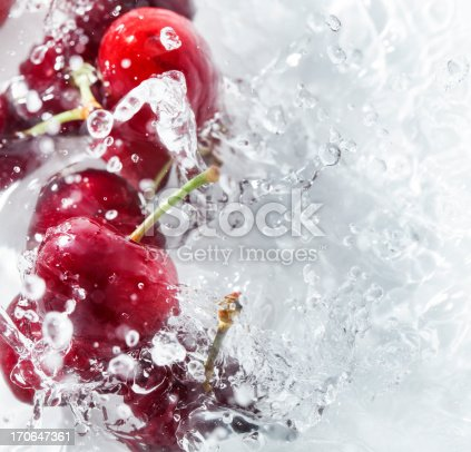 Cherries splash