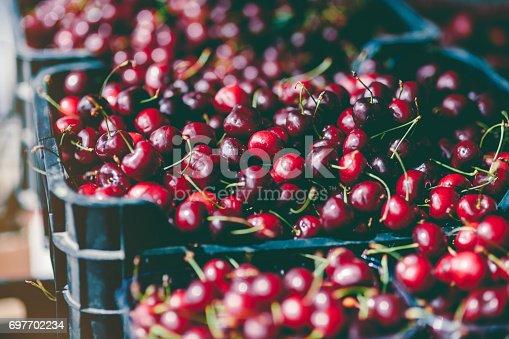 Cherries. Farmer's market.