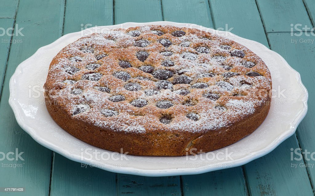 Cherry Almond Cake royalty-free stock photo