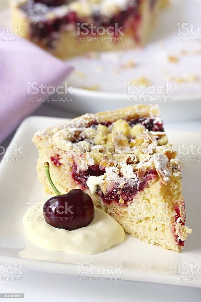 Cherry and Almond Pie royalty-free stock photo